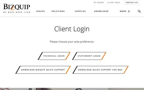 Screenshot of Login Page bizquip.ie - Login - Bizquip - captured Dec. 18, 2018