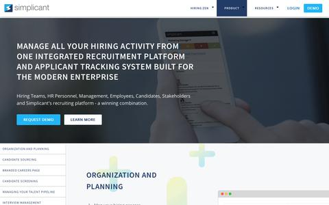 Product - Recruitment Software, Applicant Tracking System | Simplicant