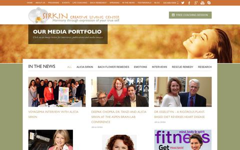 Screenshot of Press Page sirkincreativeliving.com - In The News | Miami Life Balance Coaching for professional women with Bach Flower Remedies - captured Oct. 18, 2018