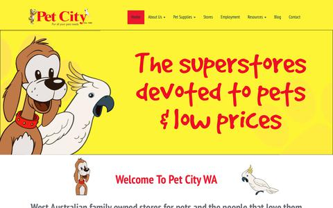 Screenshot of Home Page petcitywa.com.au - Pet City WA – For All Your Pets Needs - captured Sept. 27, 2018