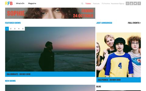 Screenshot of Home Page rockfeedback.com - | RFB - captured Sept. 21, 2018