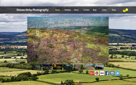 Screenshot of Home Page steven-kirby.co.uk - Steven Kirby Photography - North Yorkshire photos and more - captured Feb. 26, 2016