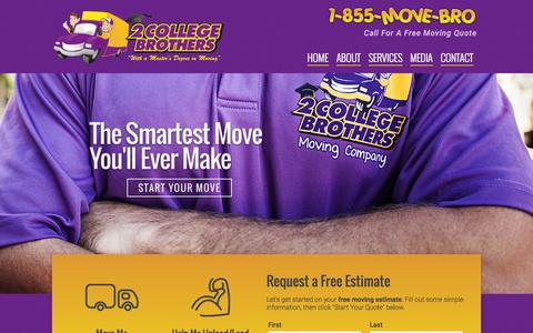 Screenshot of Home Page 2collegebrothers.com - Gainesville Movers | Gainesville, FL | 2 College Brothers, Inc. - captured Jan. 26, 2015