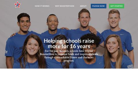 Screenshot of About Page boosterthon.com - Boosterthon School Fundraising Company: Reviews & Meet the Team - captured Oct. 1, 2018