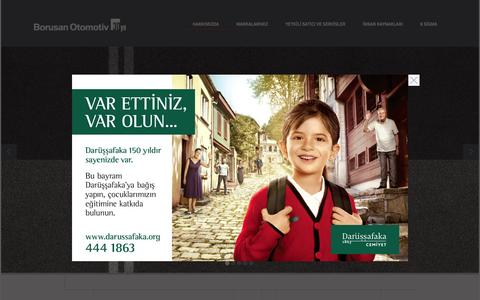 Screenshot of Home Page borusanotomotiv.com - Borusan Otomotiv | Anasayfa - captured Sept. 30, 2014