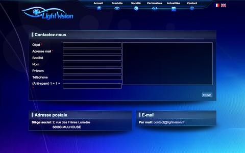 Screenshot of Contact Page lightvision.fr - LightVision - Contactez-nous - captured Sept. 30, 2014