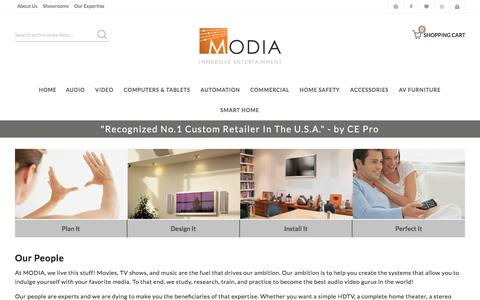 Screenshot of Team Page modia.com - Our People - captured July 26, 2018