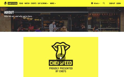 Screenshot of About Page chefsfeed.com - About Us   ChefsFeed - captured March 7, 2019