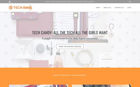 Screenshot of Home Page techcandycases.com - Tech Candy: Techcessories - captured Sept. 20, 2018