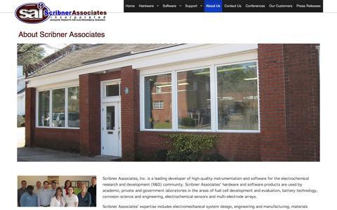 Screenshot of About Page scribner.com - About Scribner Associates - captured Feb. 16, 2016