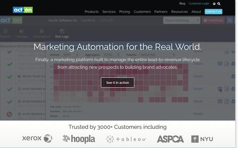 Screenshot of Home Page act-on.com - Marketing Automation and Email Marketing - Act-On - captured Nov. 17, 2015