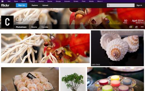 Screenshot of Flickr Page flickr.com - Flickr: carlocivera's Photostream - captured Oct. 28, 2014