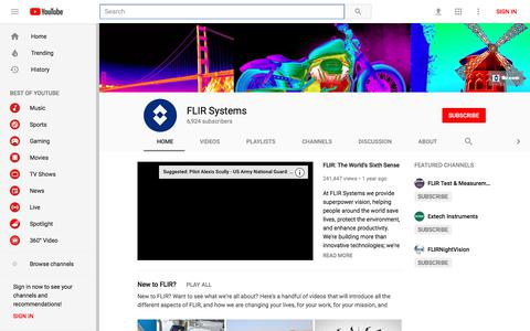 FLIR Systems - YouTube - YouTube