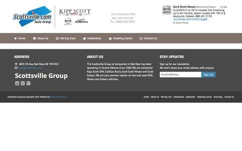 Screenshot of Contact Page scottsville.com - Scottsville Group - captured Oct. 3, 2014