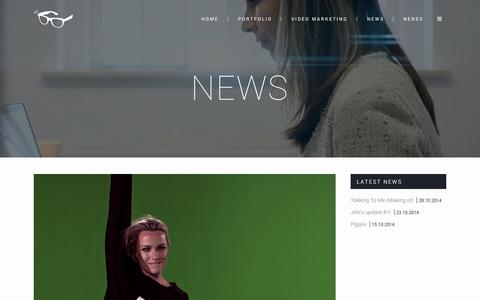 Screenshot of Press Page justanothernerd.com - The latest news from JAN - Just Another Nerd - captured Oct. 29, 2014