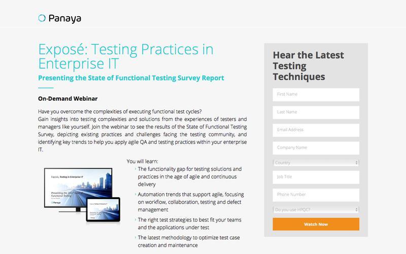 Testing in Enterprise IT: 2017 State of Functional Testing Webinar