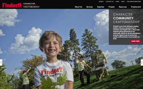 Screenshot of Home Page findorff.com - J.H. Findorff & Son Inc. | Wisconsin Construction Services - captured Oct. 2, 2014