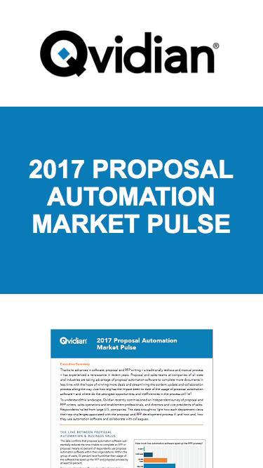 2017 Proposal Automation Market Pulse