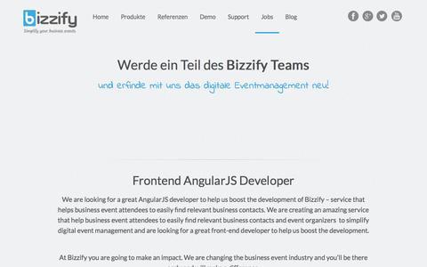 Screenshot of Jobs Page bizzify.io - Offene Stellen bei Bizzify - captured Nov. 2, 2014