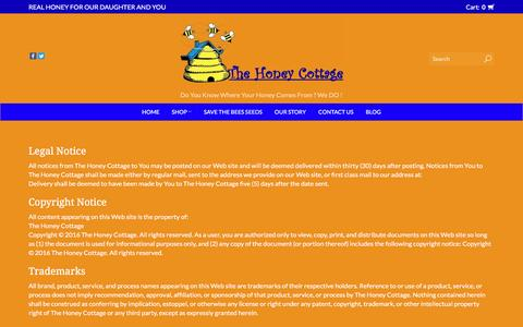 Screenshot of Terms Page thehoneycottage.com - Terms and conditions    The Honey Cottage - captured May 10, 2017