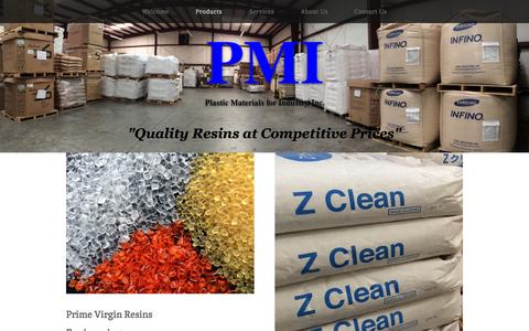 Screenshot of Products Page plasticmaterials.com - Products — Plastic Materials for Industry, Inc. - captured Oct. 2, 2014