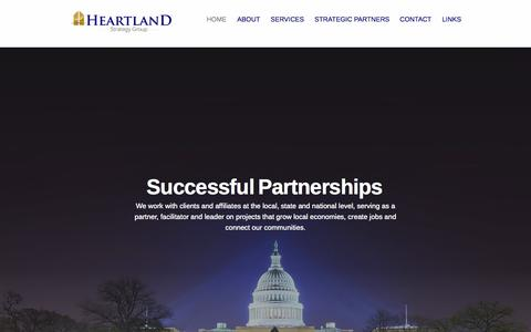 Screenshot of Home Page heartlandstrategy.com - Heartland Strategy Group - captured Oct. 2, 2014