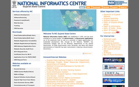 Screenshot of Home Page Site Map Page guj.nic.in - ::National Informatics Gujarat State Centre:: - captured Nov. 7, 2018