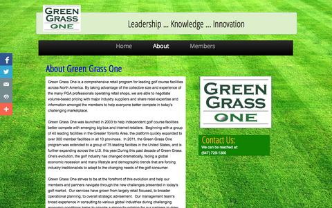 Screenshot of About Page greengrassone.com - About - captured Sept. 30, 2014