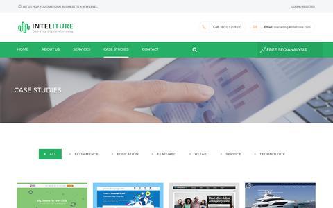 Screenshot of Case Studies Page inteliture.com - Inteliture | Search Engine Optimization Case Studies - captured Oct. 12, 2018