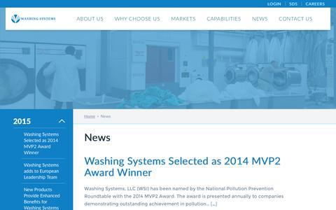 Screenshot of Press Page washingsystems.com - News - Washing Systems | Washing Systems - captured Jan. 10, 2016