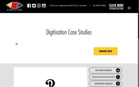 Screenshot of Case Studies Page studios301.com - Case Studies – Studios 301 - captured Nov. 11, 2017