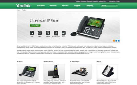 Screenshot of Products Page yealink.com - Yealink - the Global TOP 3 SIP Phone Provider - captured Oct. 27, 2014