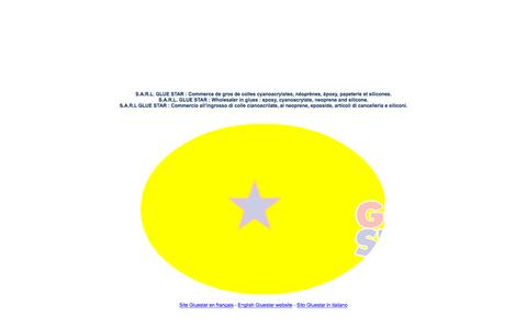 Screenshot of Home Page gluestar.mc - GLUESTAR - Commerce de gros de colles / Wholesaler in glues / Commercio all ingrosso di colle - captured Oct. 17, 2015