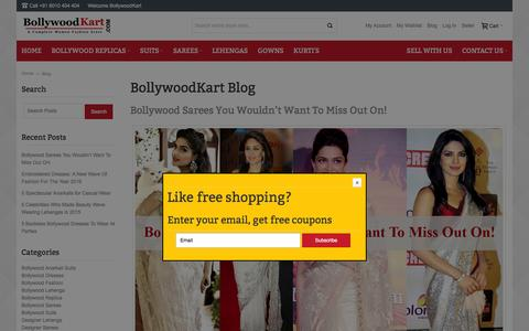 Screenshot of Blog bollywoodkart.com - BollywoodKart Blog - captured Feb. 18, 2016