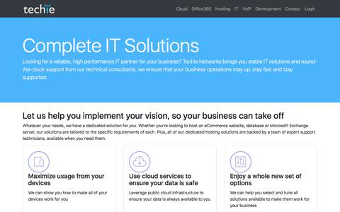 Screenshot of Home Page techienetworks.com - Techie Networks, Your Cloud Solution Provider - captured Oct. 20, 2017