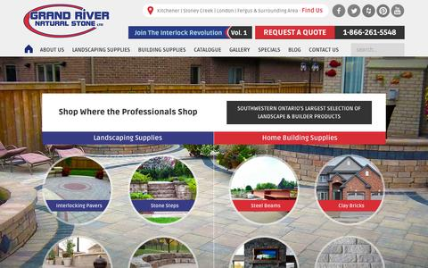 Screenshot of Home Page grandriverstone.com - Natural Stone & Building Material Supplier - Grand River Natural Stone - captured July 25, 2015
