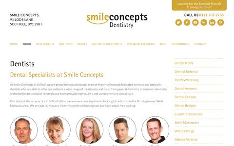 Screenshot of Team Page smileconcepts.co.uk - Dentists in Solihull, at Smile Concepts Dentistry - captured Oct. 22, 2017