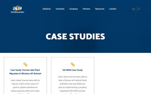 Screenshot of Case Studies Page ctctechnologies.com - Case Studies Archives - CTC Technologies Inc. - captured Sept. 26, 2018