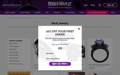 Skull Jewelry -  Buy Skull Rings, Necklaces & Earrings.