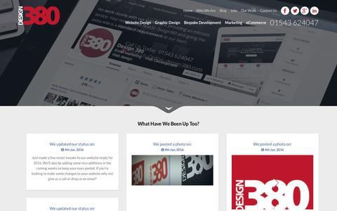 Screenshot of Blog design380.com - Website Design news cannock walsall stafford - captured Jan. 7, 2016