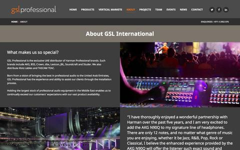 Screenshot of About Page gslprofessional.com - About us - GSL Professional - captured Dec. 6, 2015