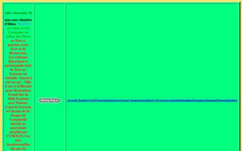 Screenshot of Home Page chambre-tarn-et-garonne.com - Location de chambre d'hôtes dans le 82 (tarn-et-garonne) avec piscine et villa-patio dans le 40(landes), france, sud-ouest, soleil. - captured Oct. 16, 2015