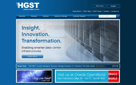 Screenshot of Blog virident.com - Homepage | HGST Storage - captured Sept. 11, 2014