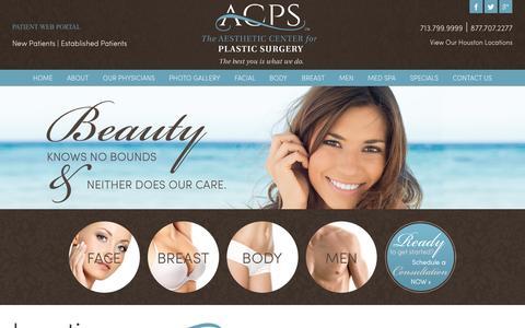 Screenshot of Locations Page mybeautifulbody.com - Plastic Surgery | Cosmetic Enhancements | Katy TX | Houston TX Location - captured Feb. 5, 2016