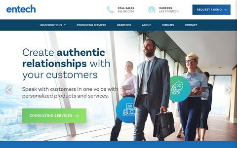 Screenshot of Home Page entech.com - Entech - captured July 18, 2018