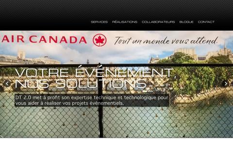 Screenshot of Home Page dt20.ca - DT 2.0 - captured Sept. 30, 2014
