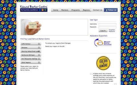 Screenshot of Contact Page edmundbartoncentre.com.au - Find Your Local Edmund Barton Centre | Edmund Barton Centre - captured Oct. 2, 2014