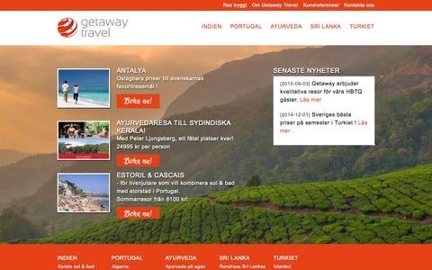 Screenshot of Home Page getaway.se - Startsida | Getaway - captured Oct. 10, 2015