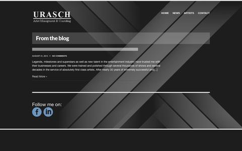 Screenshot of Press Page urasch.com - NEWS  |  Urasch | Artist Management & Consulting - captured Oct. 29, 2014