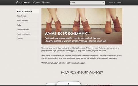 Screenshot of About Page poshmark.com - What is Poshmark - captured March 19, 2016